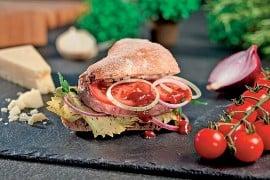 Lamm-Kaese-Burger