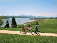 Service: Die Seenland-Tourismusverbände verleihen auch E-Bikes.
