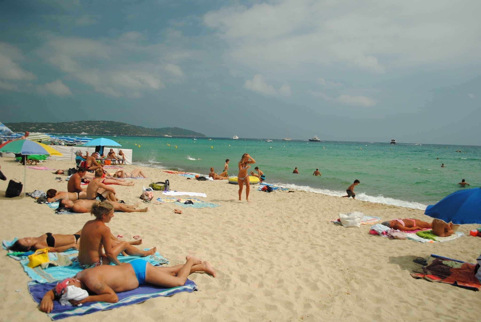 Strand Von Saint Tropez Camping Cars Caravans