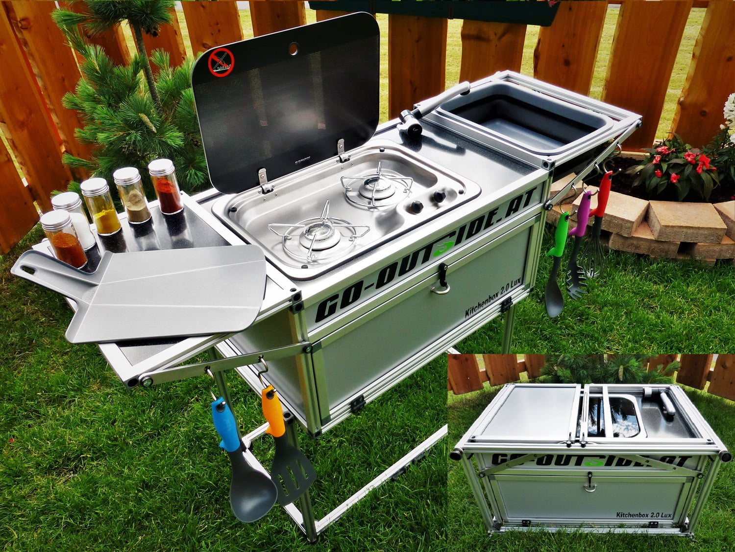 Outdoorküche Camping Club : Go outside kitchenbox camping cars caravans