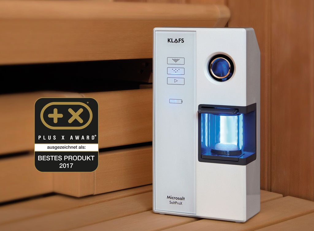 klafs saltprox ger t feines salzaerosol. Black Bedroom Furniture Sets. Home Design Ideas