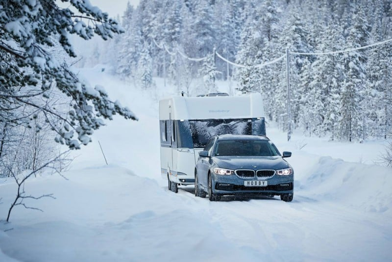 Hobby-Kältetest beim Wintercamping in Schweden