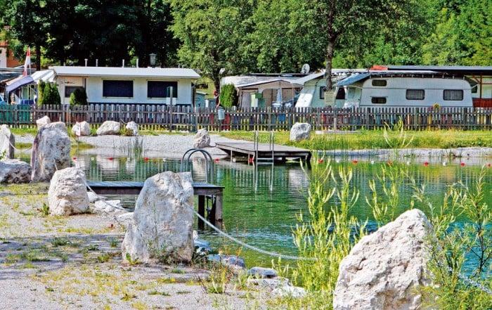 Camping Steinplatte in Waidring Tirol - Badesee