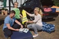 Checkliste Warnweste, Erste-Hilfe-Set
