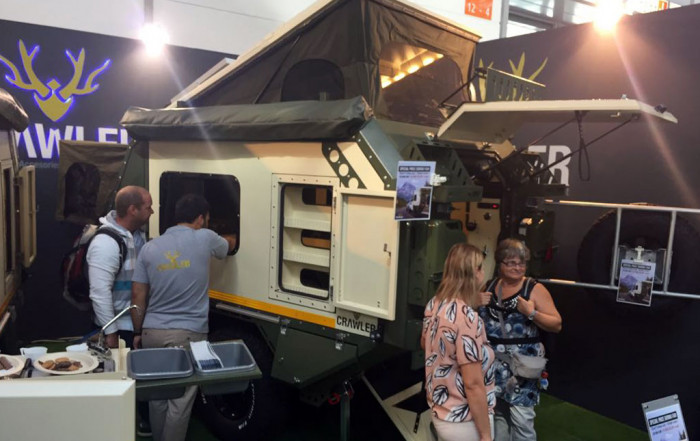 Crawler Outdoor-Caravan auf dem Caravan Salon 2018