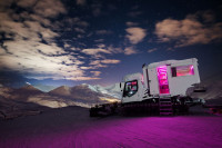 Pistenbully-Hotel in La Plagne