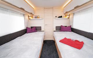 Schlafabteil im Knaus Südwind 650 PEB