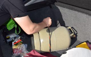Gasflaschen-Transport im Auto