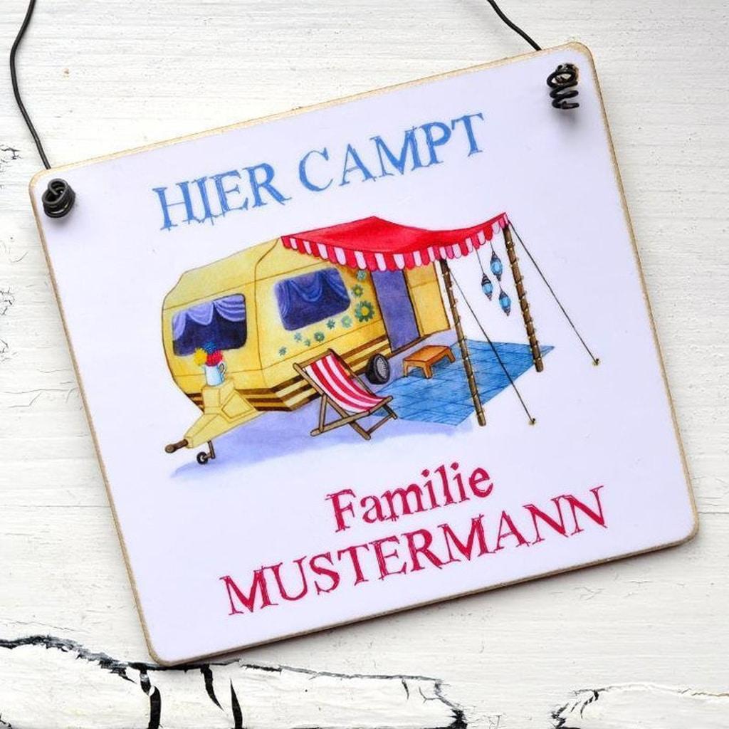 Geschenke für Camper - personalisiertes Schild